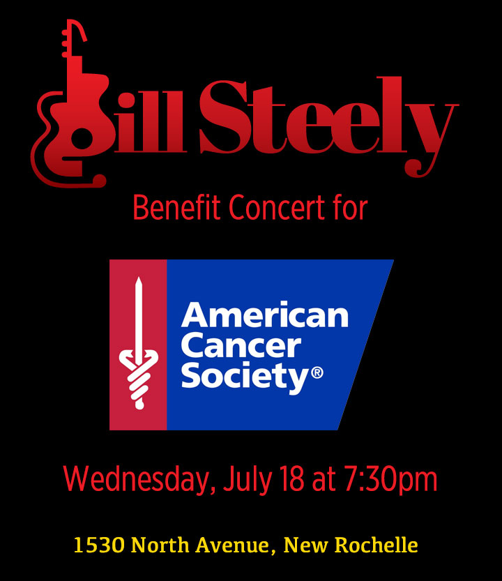 Benefit Concert for American Cancer Society Wed July 18 7:30 pm 1530 North Avenue New Rochelle